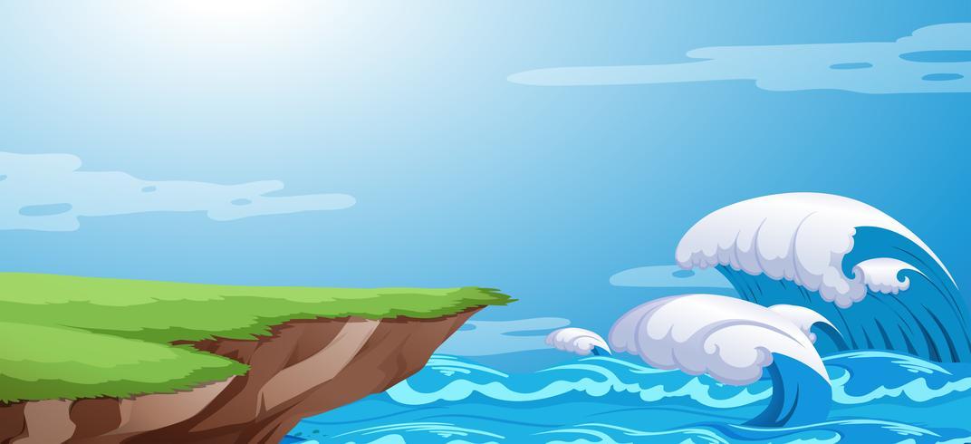 A ocean cliff background   Download Vectors Clipart Graphics 1072x490