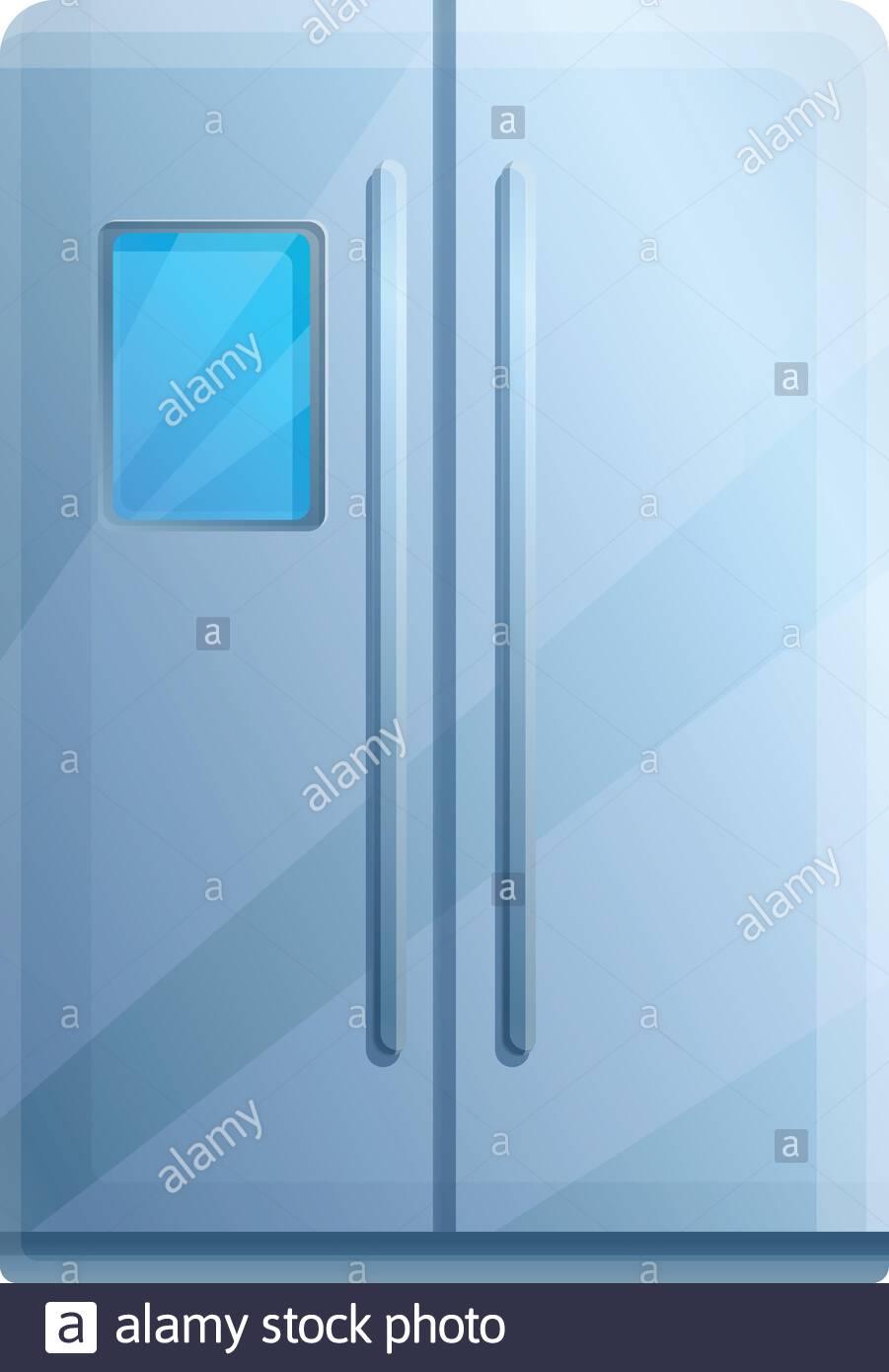 Large fridge icon Cartoon of large fridge vector icon for web 901x1390