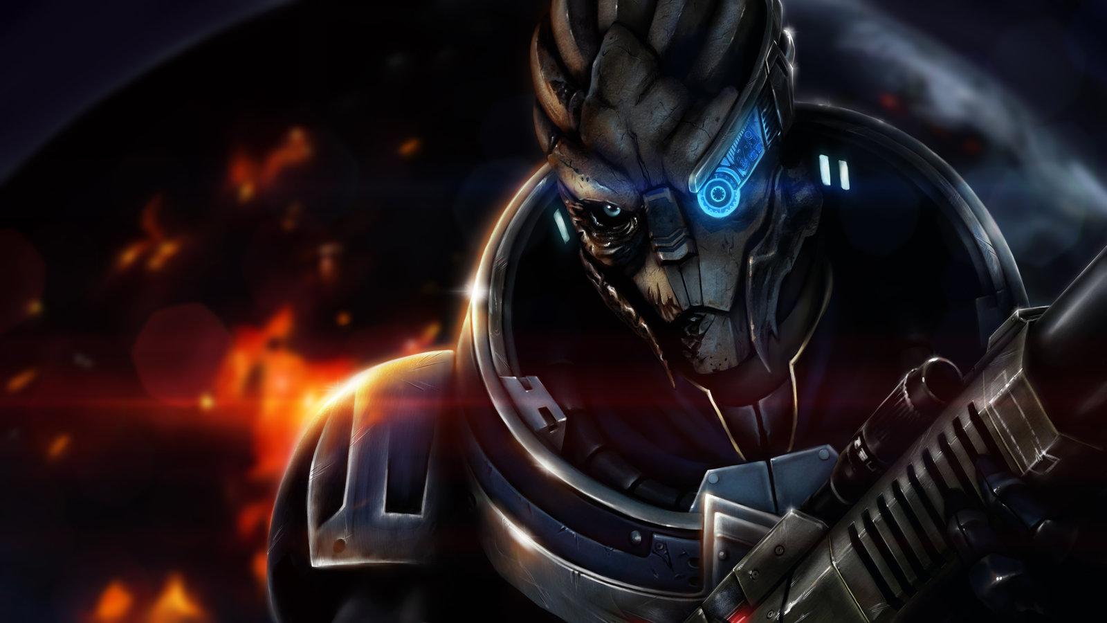 Mass Effect Wallpaper Garrus Fan art   garrus of mass 1600x900