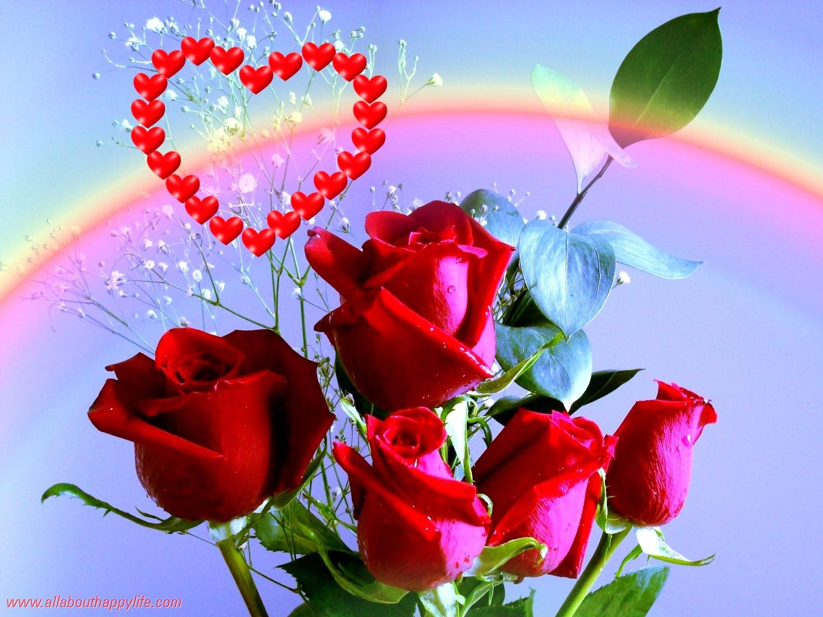 red roses love wallpaper 1600x1200