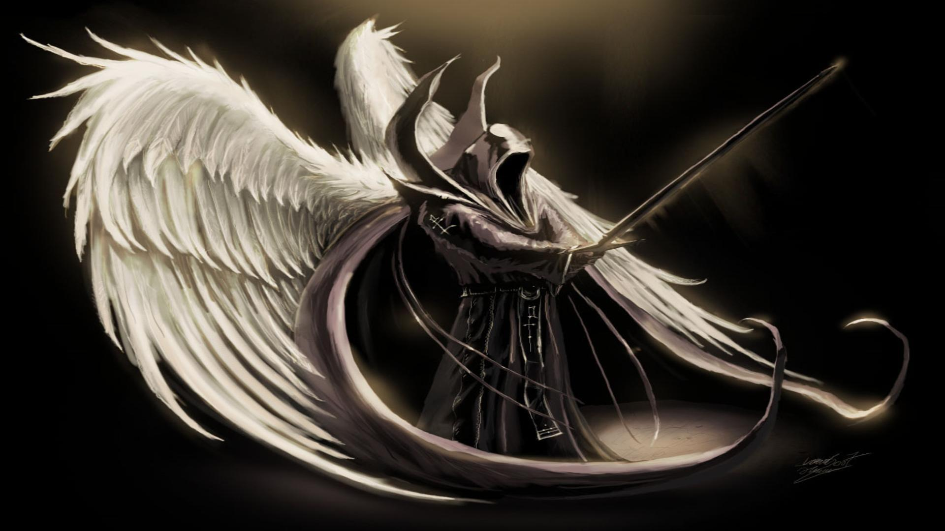Dark angel wings desktop background   wallpaper image 1920x1080