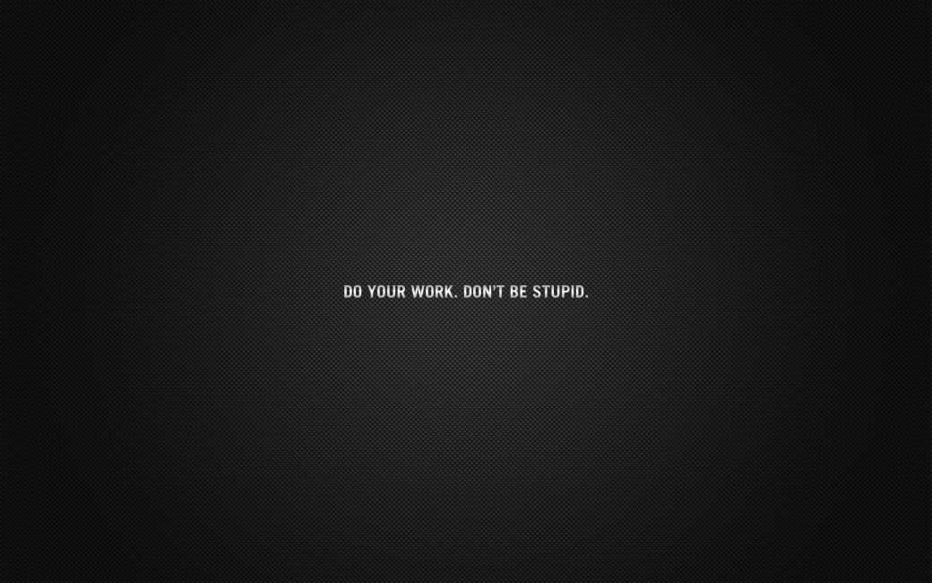 Inscription Cardboard Black Do Your Work Advice   Stock 1040x650