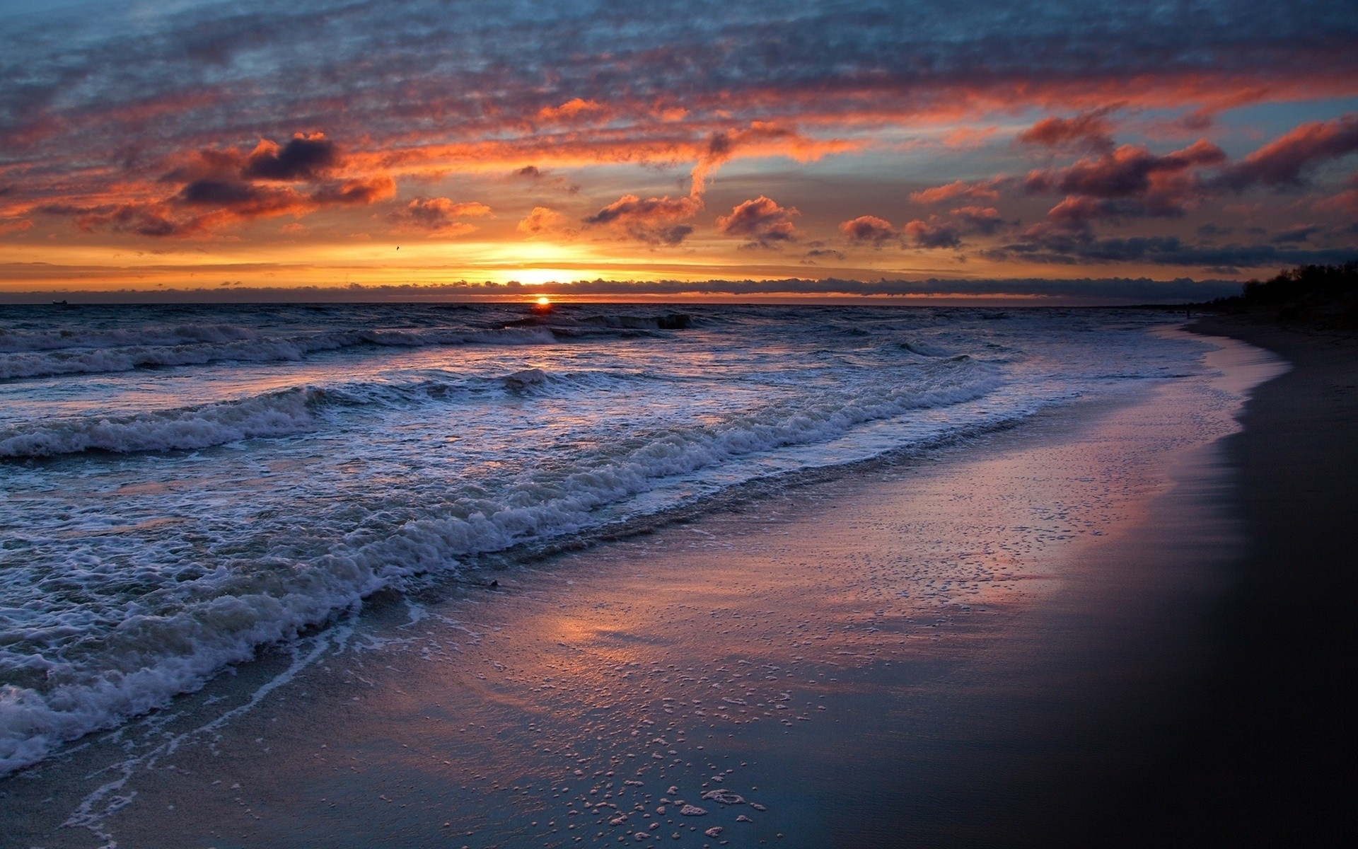 40 ocean sunsets wallpaper on wallpapersafari - Ocean pictures for desktop background ...