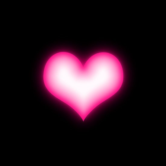 pink heart on black background iPhone 6s   Snap Black Backgrounds 550x550