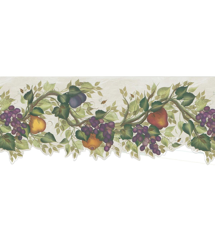 Fruit Vine Wallpaper Border Green Sample Jo Ann 1200x1360