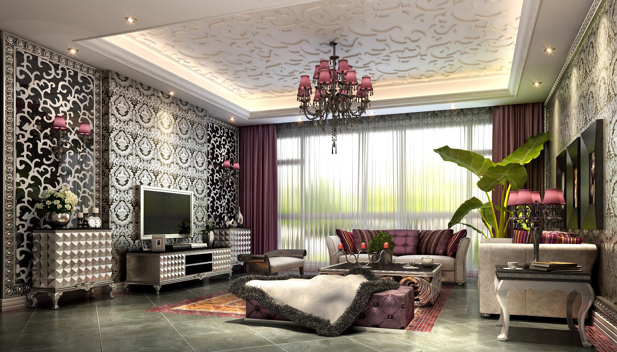 47 Fancy Wallpaper For Living Rooms