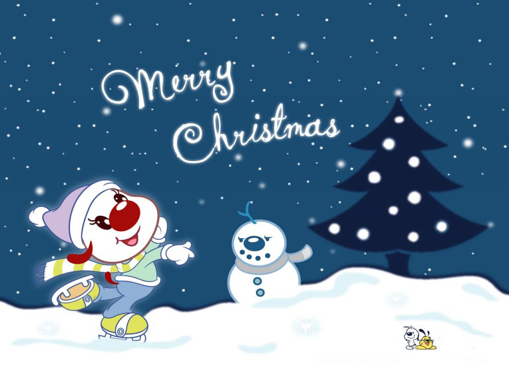 Cute Cartoon Christmas Wallpaper 11186 Hd Wallpapers in Celebrations 1024x768