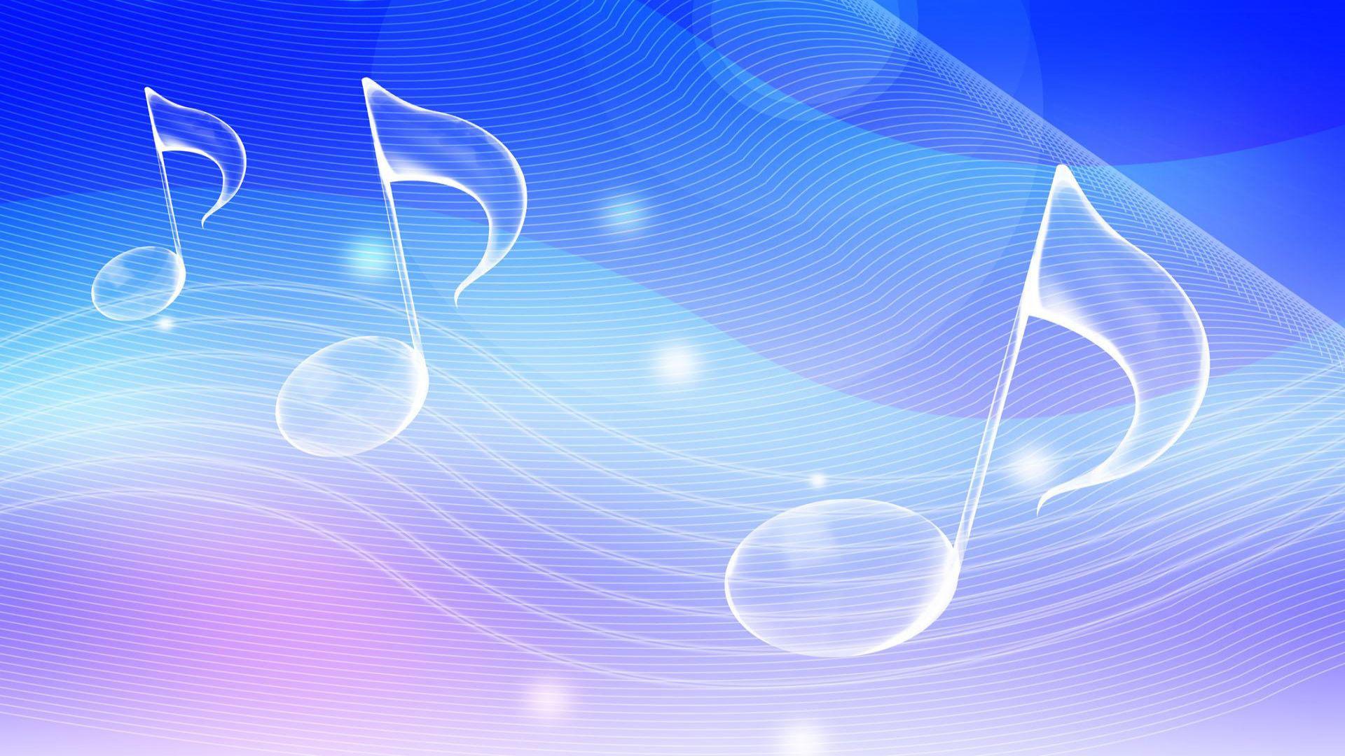Musical notes wallpaper 7354 1920x1080