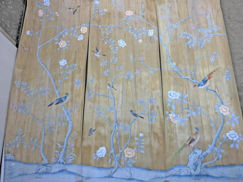 China Hand Painted Wallpaper CHINOISERIE 24   China Wallpaper Hand 800x600