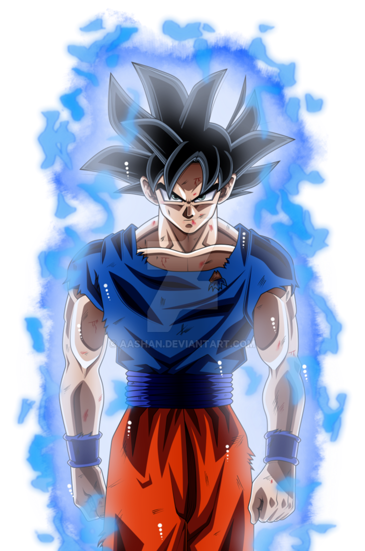 Goku Ultra Instinct by AashanAnimeArt 728x1097