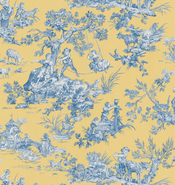 Toile Wallpaper   Contemporary   Wallpaper   by Overstockcom 606x640