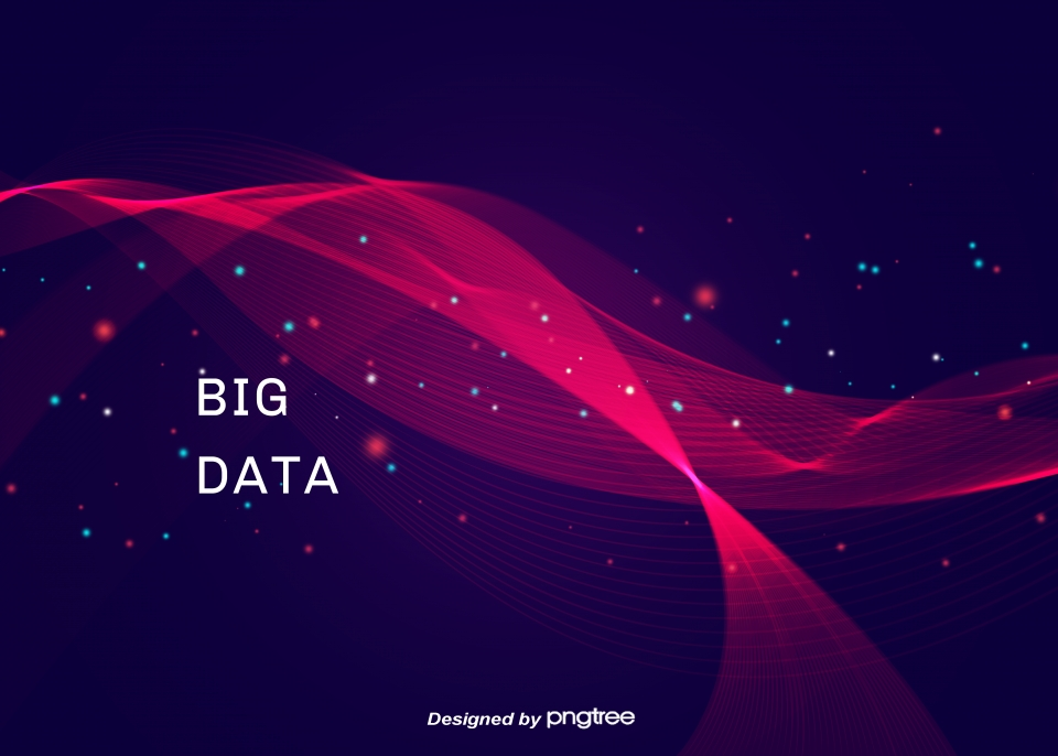 Big Data Background Of Red And Blue Technological Sense Light 960x686