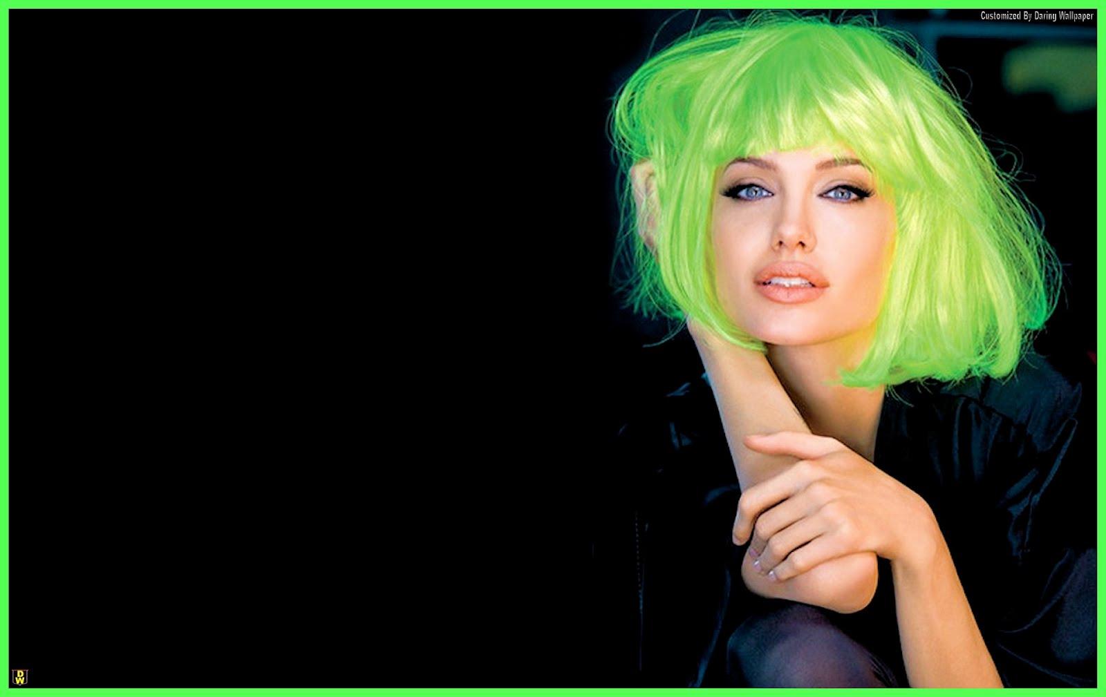 girl style green hair wild beautiful screensaver HQ HD Wallpaper 1600x1009