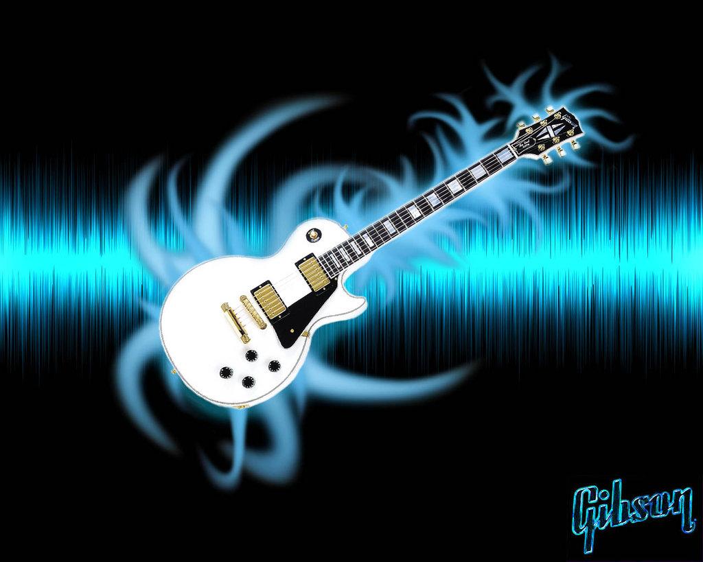 3d Musics Guitar Backgrounds: Gibson Guitar Wallpaper