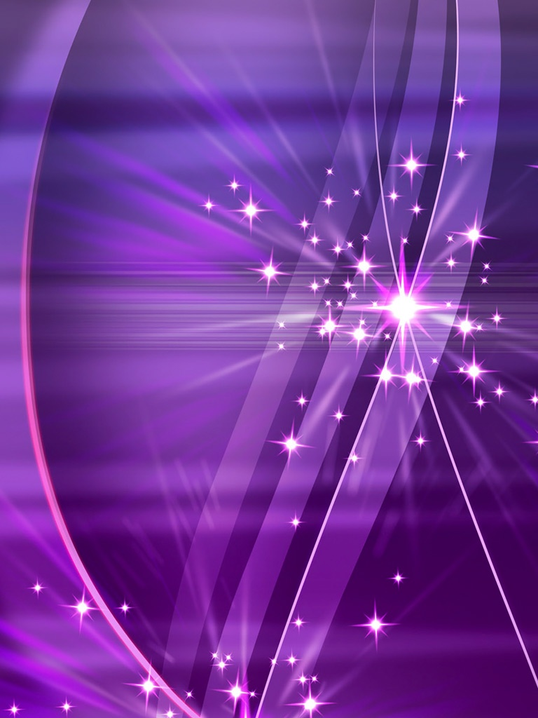 Simply Violet Sparks 3D Wallpapers   iPad iPhone HD Wallpaper 768x1024