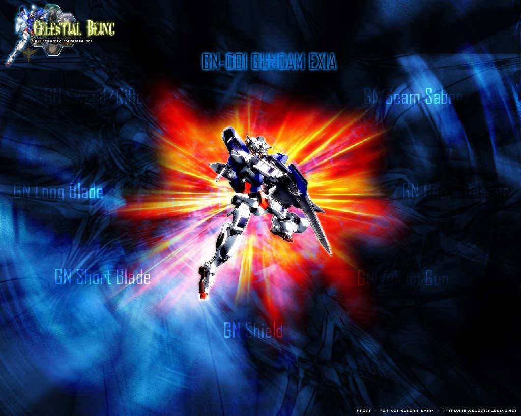 gundam exia weapon   Gundam 00 Wallpaper 1024x819