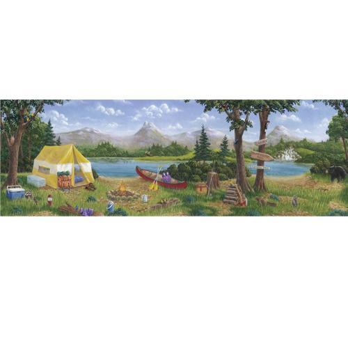 Camping Wallpaper Border 500x500