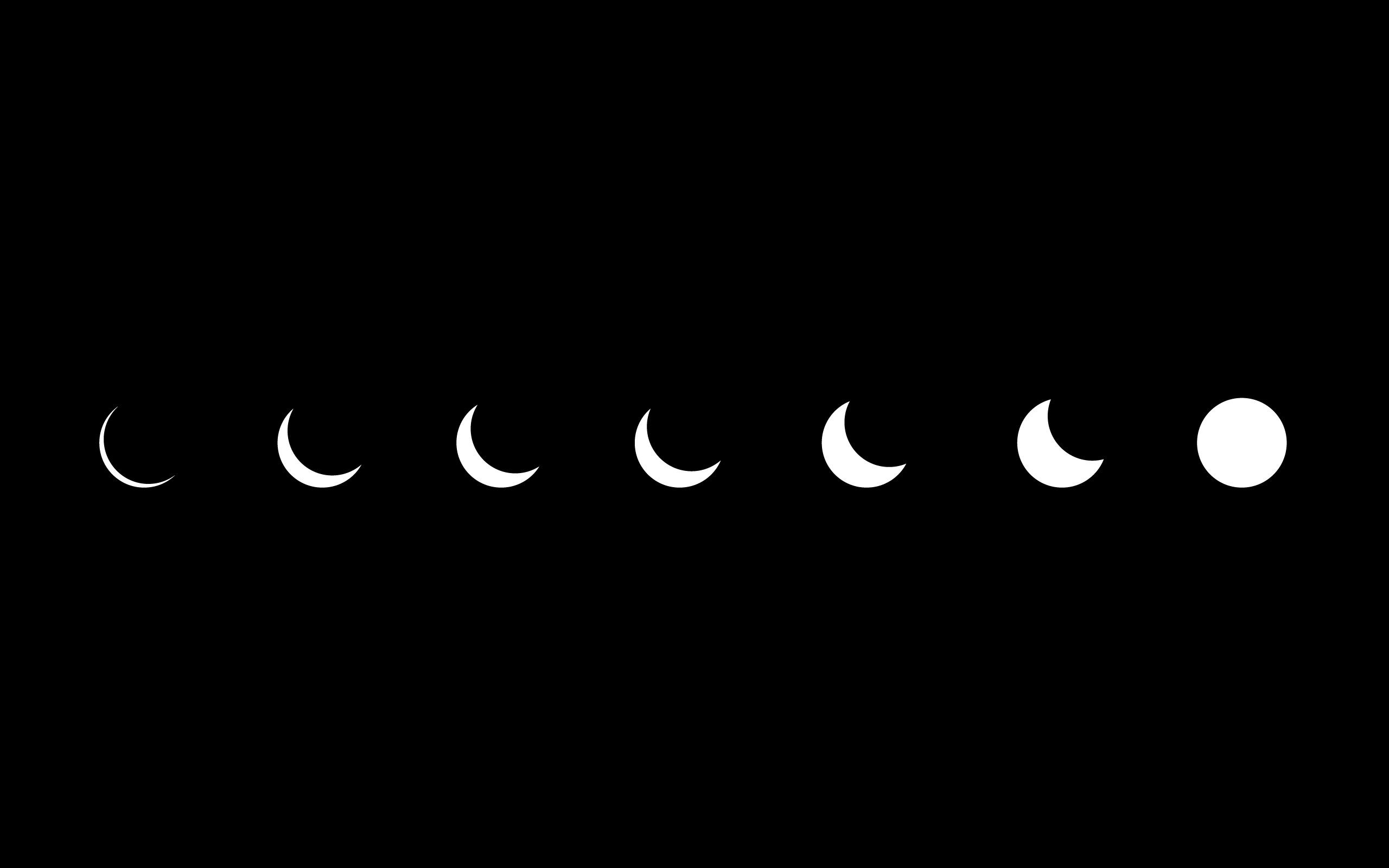 High Resolution Minimalistic Eclipse Artwork Simple HD Wallpaper 2560x1600