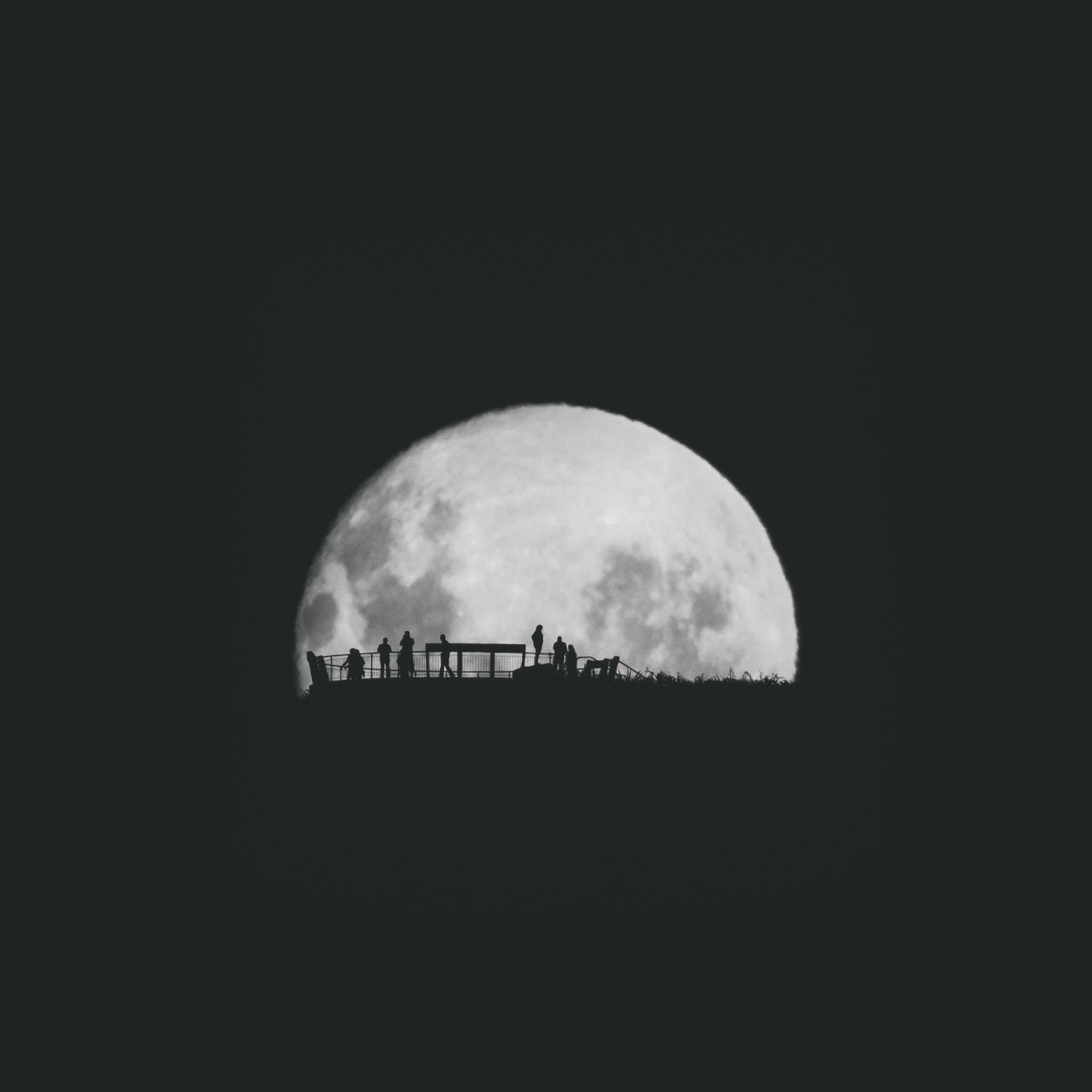 Wallpaper iphone moon - Freeios7 Moon Silhouettes 2 Parallax Hd Iphone Ipad Wallpaper