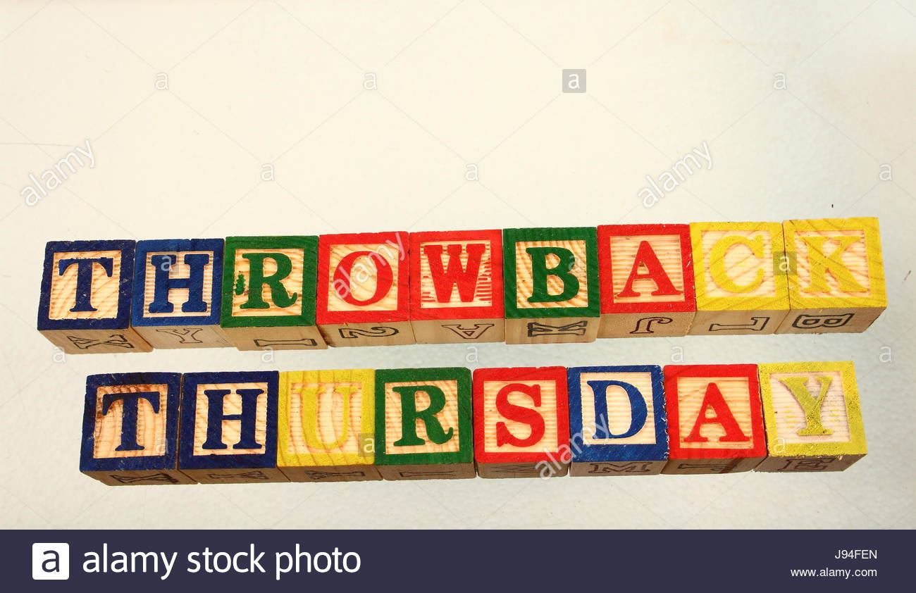 The term throwback thursday displayed visually on a white 1300x842