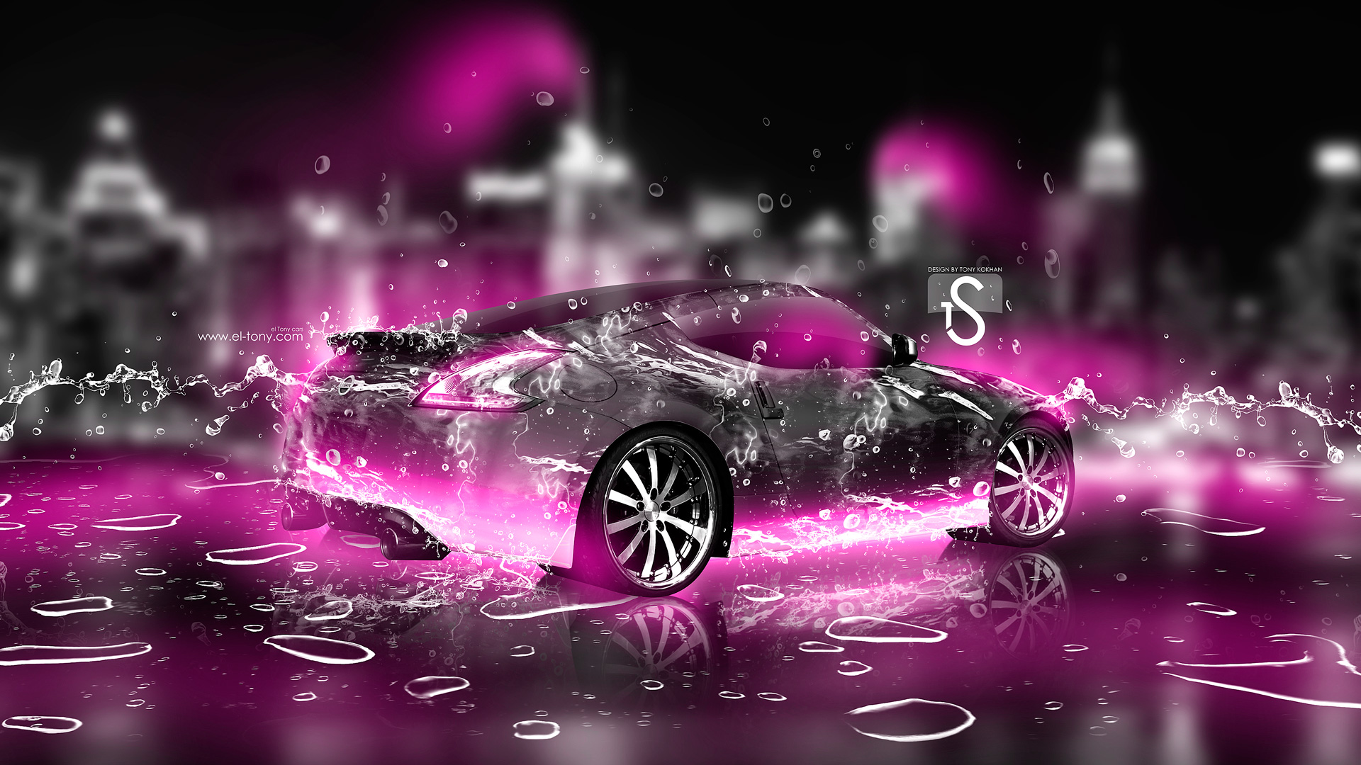 Neon Pink Wallpapers  water city car 2013 pink 1920x1080