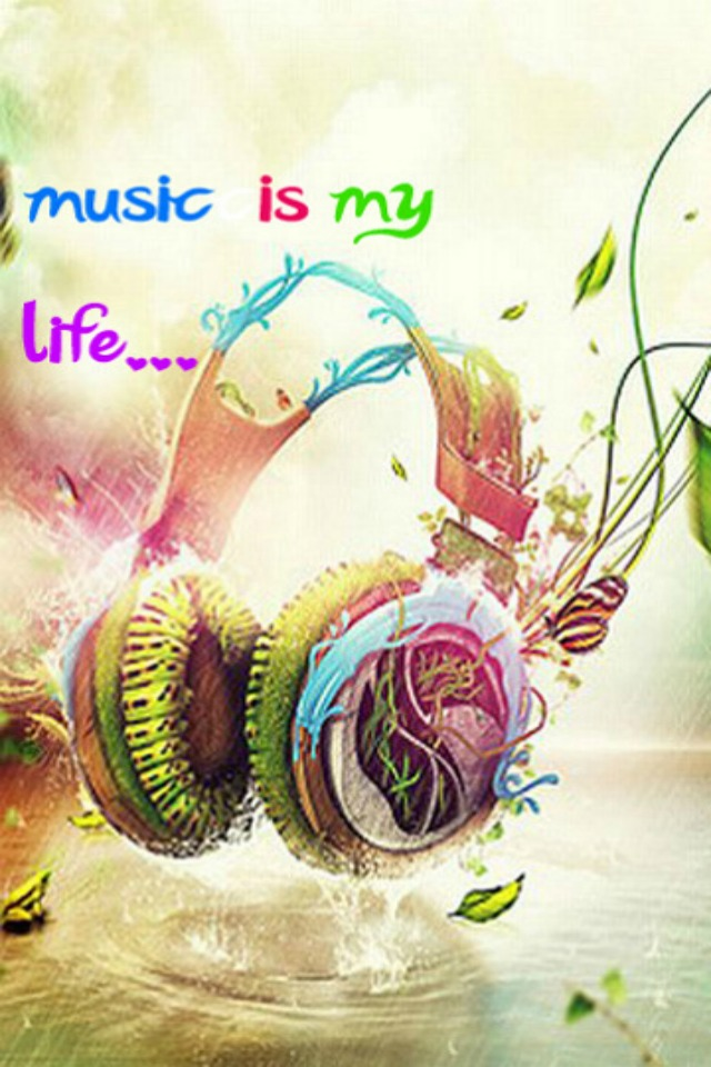 Music Is My Life Background For Your IPhone Download 640x960