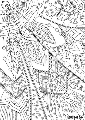 pattern for wallpaper coloring books and pages for kids and adults 354x500