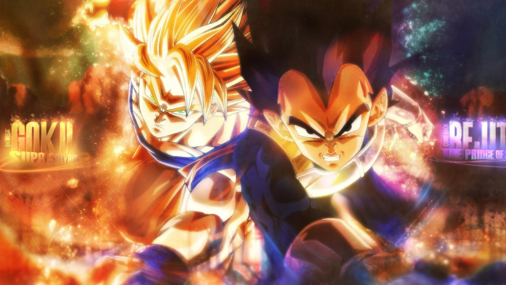 vegeta son goku dragon ball super saiyan HD Wallpaper of Anime Manga 1920x1080
