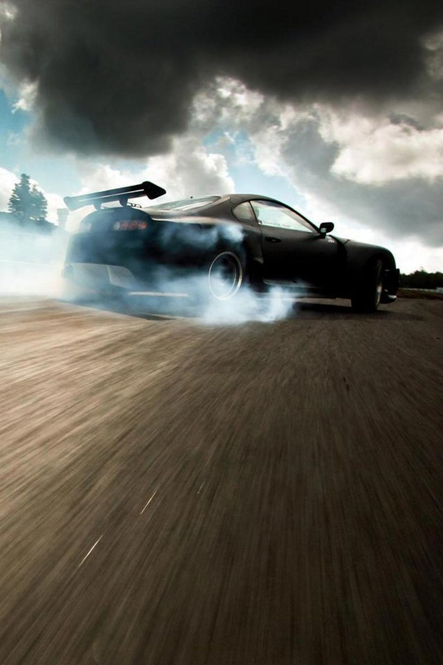 Download for iPhone cars wallpaper Supra Drifting 640x960