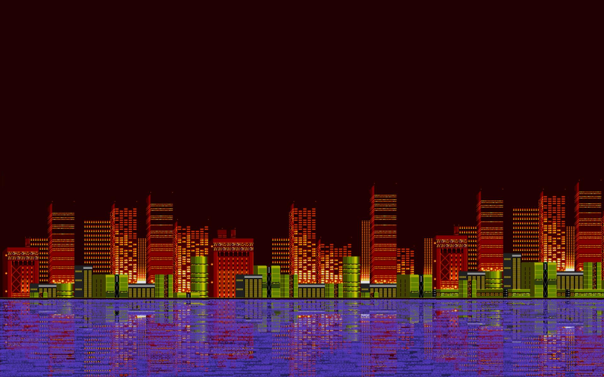 Android Wallpaper 8 Bit Landscapes 1920x1200
