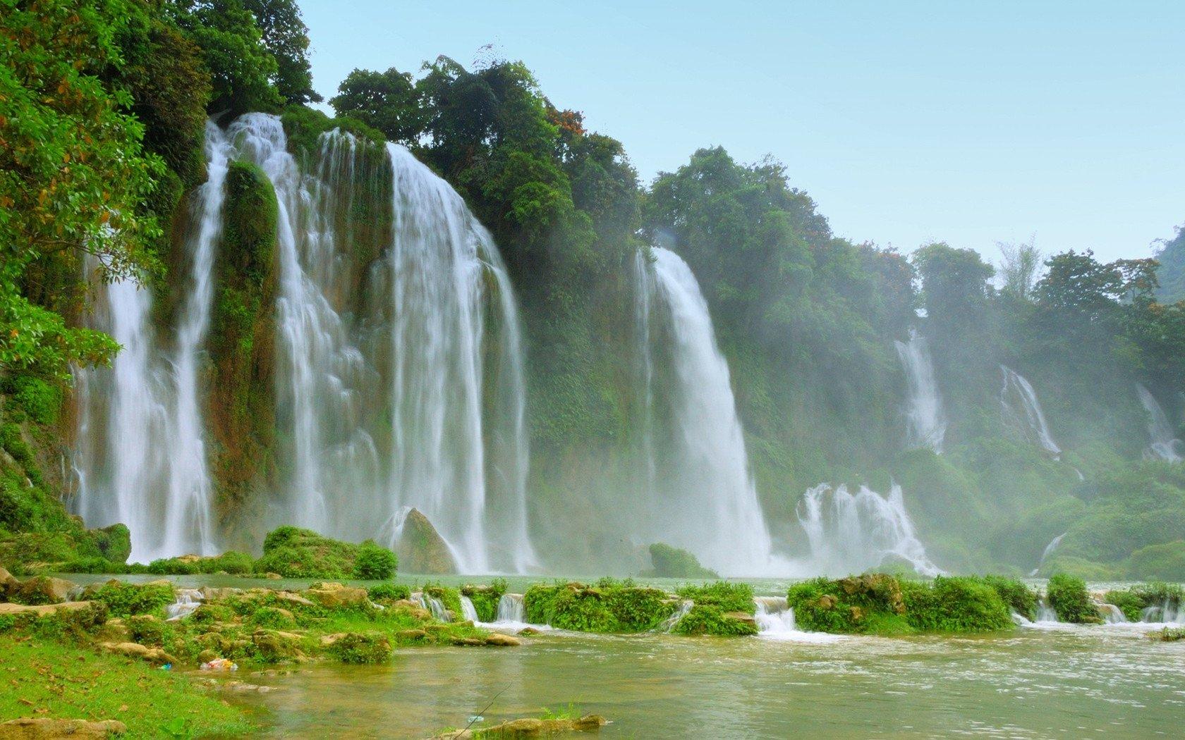 Detian Falls Vietnam wallpaper 3350 1680x1050