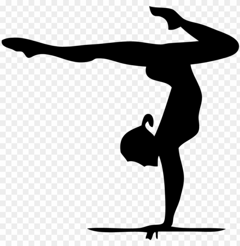 ymnast handstand silhouette at getdrawings   gymnast clip art PNG 840x859