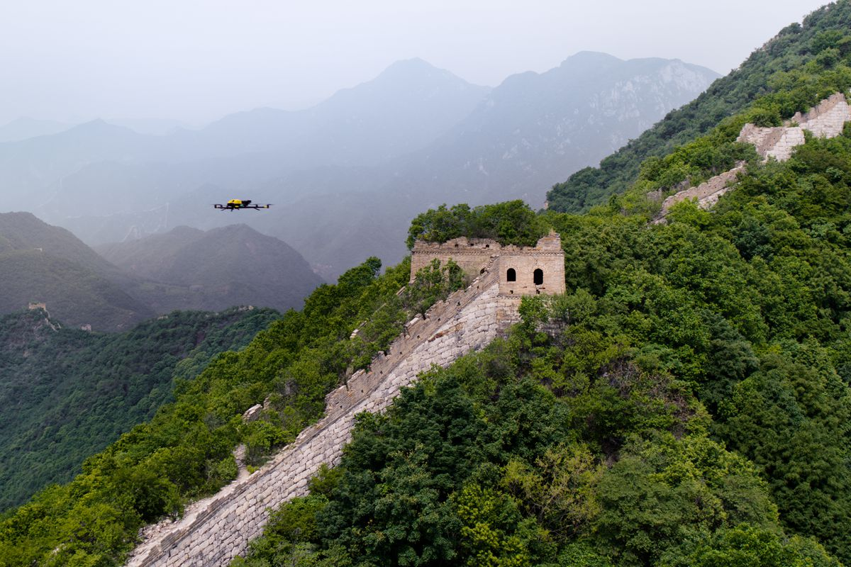 Drones help restore the Great Wall of China   Curbed 1200x800