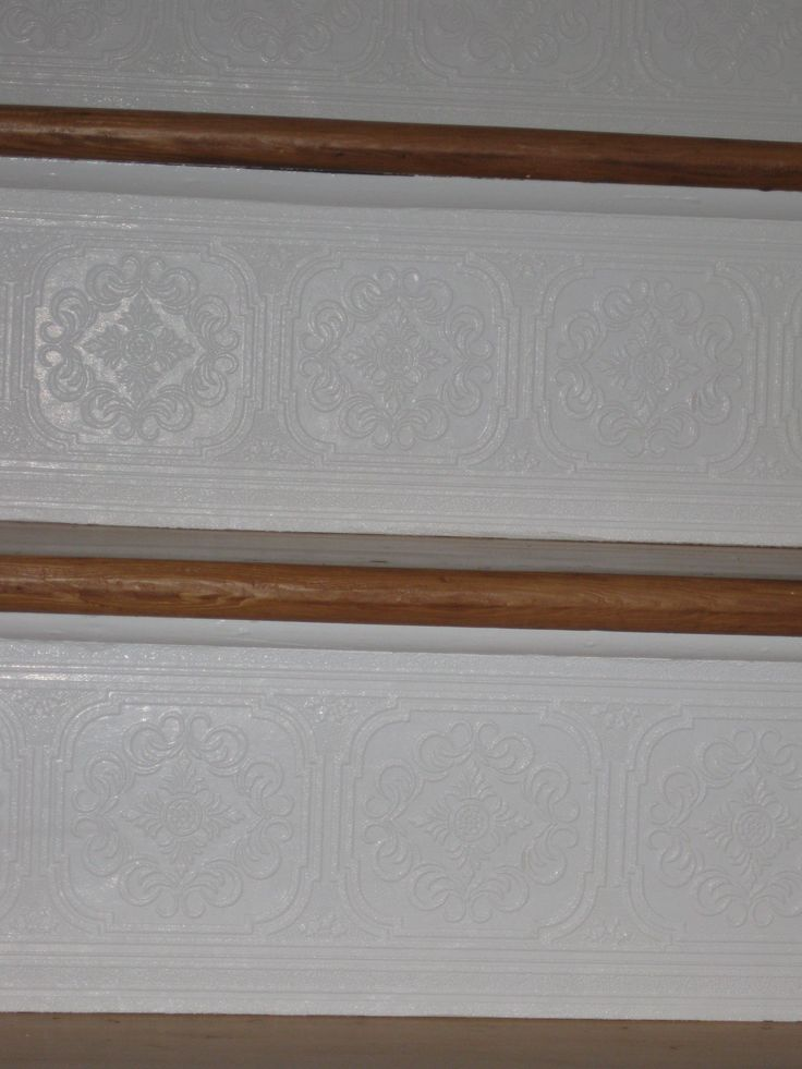project I used paintable textured wallpaper border from Lowes 736x981