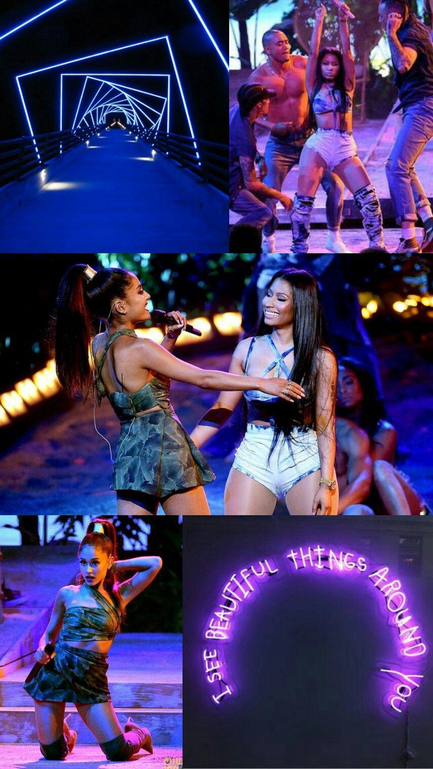 Ariana Grande and Nicki Minaj LockscreenWallpaper Ariana grande 854x1518
