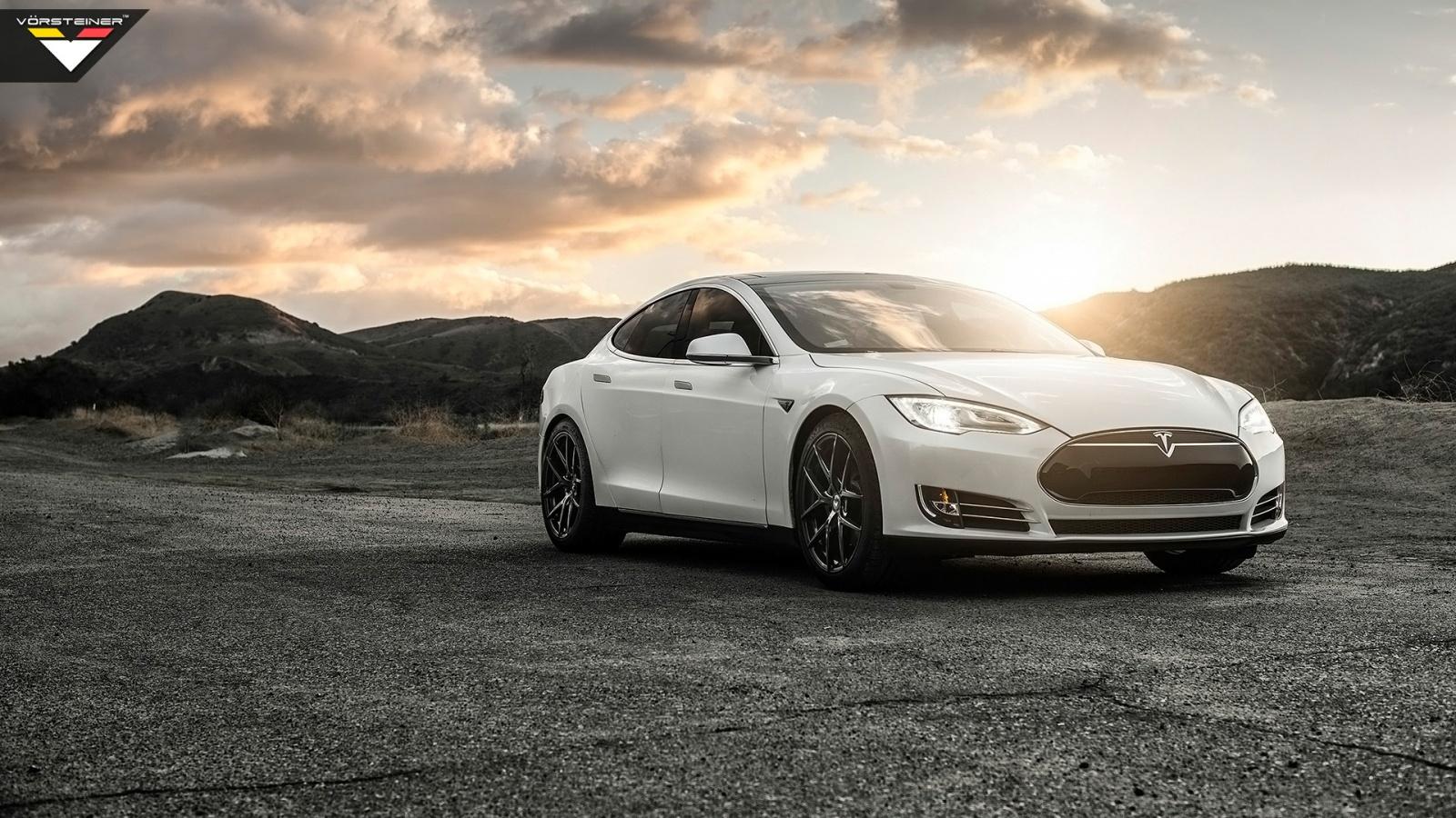 2014 Vorsteiner Tesla Model S P85 Wallpaper HD Car Wallpapers 1600x900