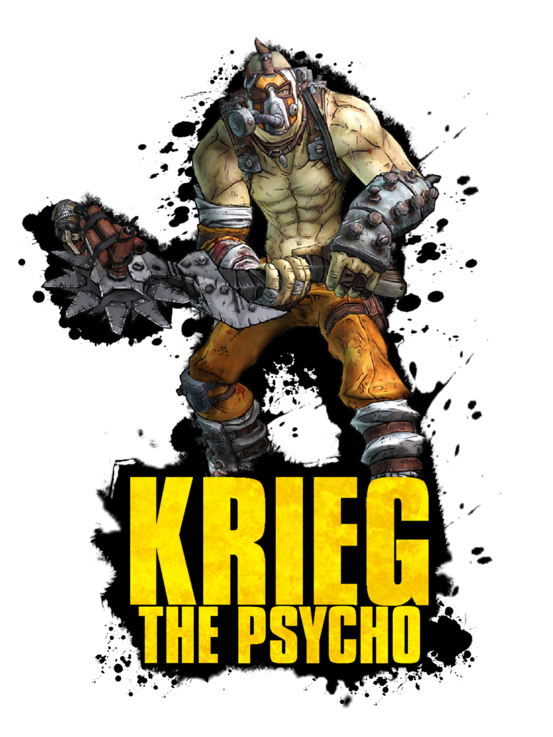 Borderlands 2   Krieg The Psycho T shirt by ThatCraigFellow on 774x1032