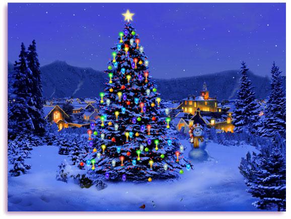 Holiday Christmas Desktop Wallpapers Christmas tree Download 578x435