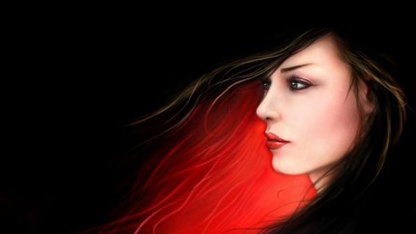 women women digital art profile black background 1920x1080 wallpaper 600x337
