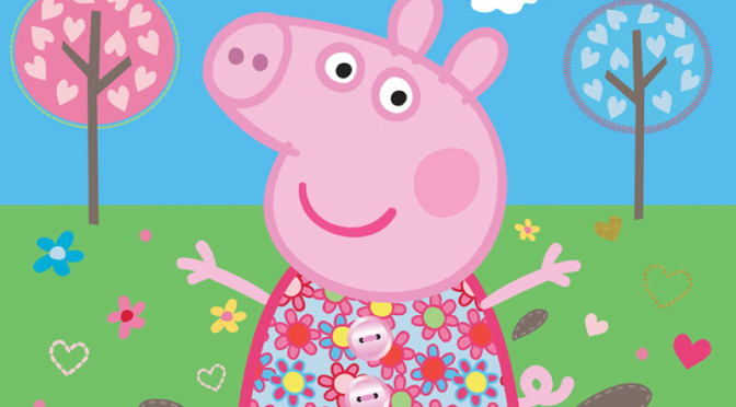 Walltastic Peppa Pig Muddy 672x372