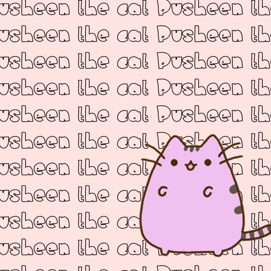 wallpaper pusheen the cat by Moustachegirl05 900x900