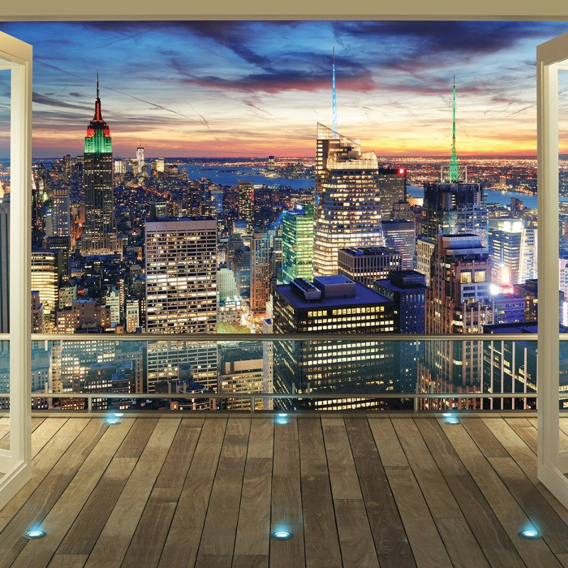 Walltastic New York City Skyline Wallpaper Mural   43558 800x800