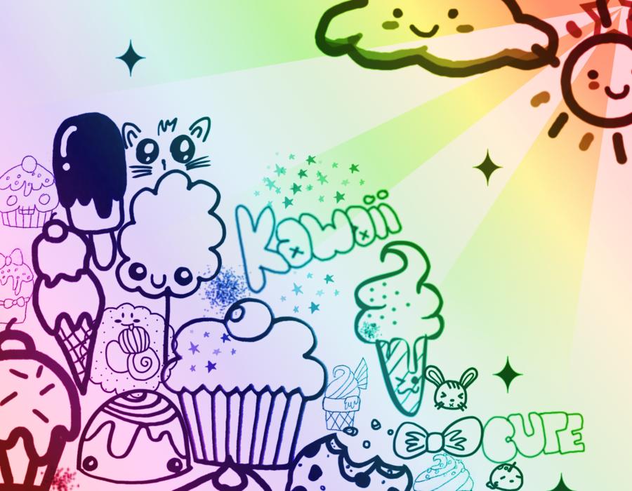 Kawaii Wallpaper by RainbowZebraMomo 900x700