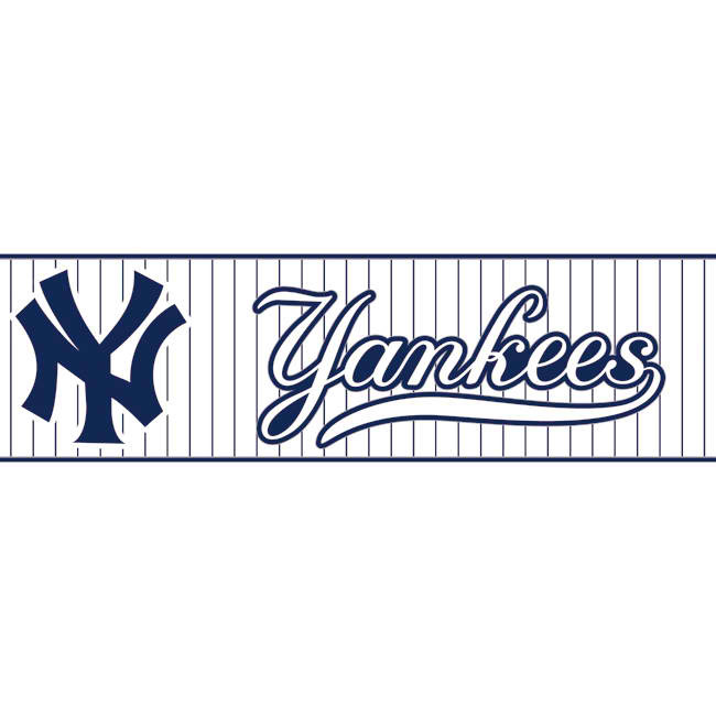 Dark Blue White ZB3308BD Yankees Pinstripe Wallpaper Border 650x650