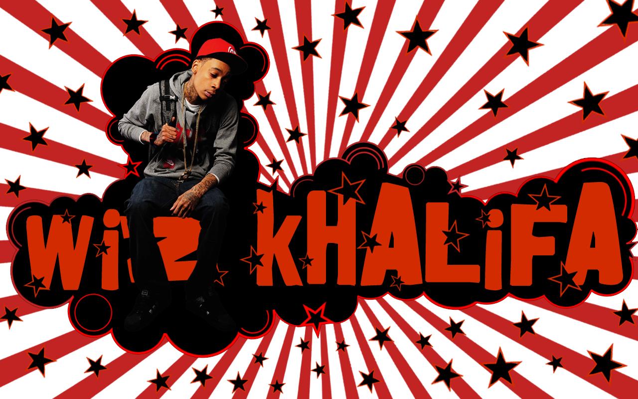 Wiz Khalifa desktop wallpapers screensaver background image photo red 1280x800