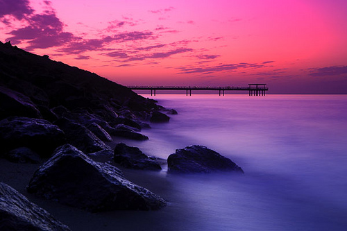 pink sunset Tumblr 500x333