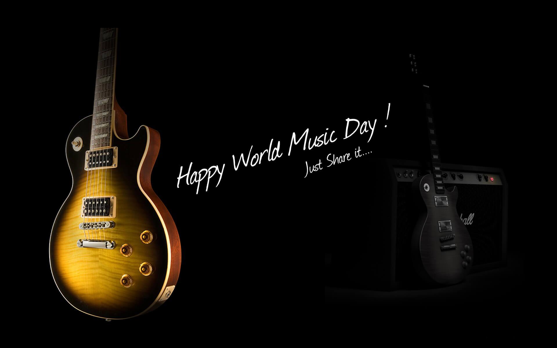 World Music Day Guitar Wallpaper 1920x1200