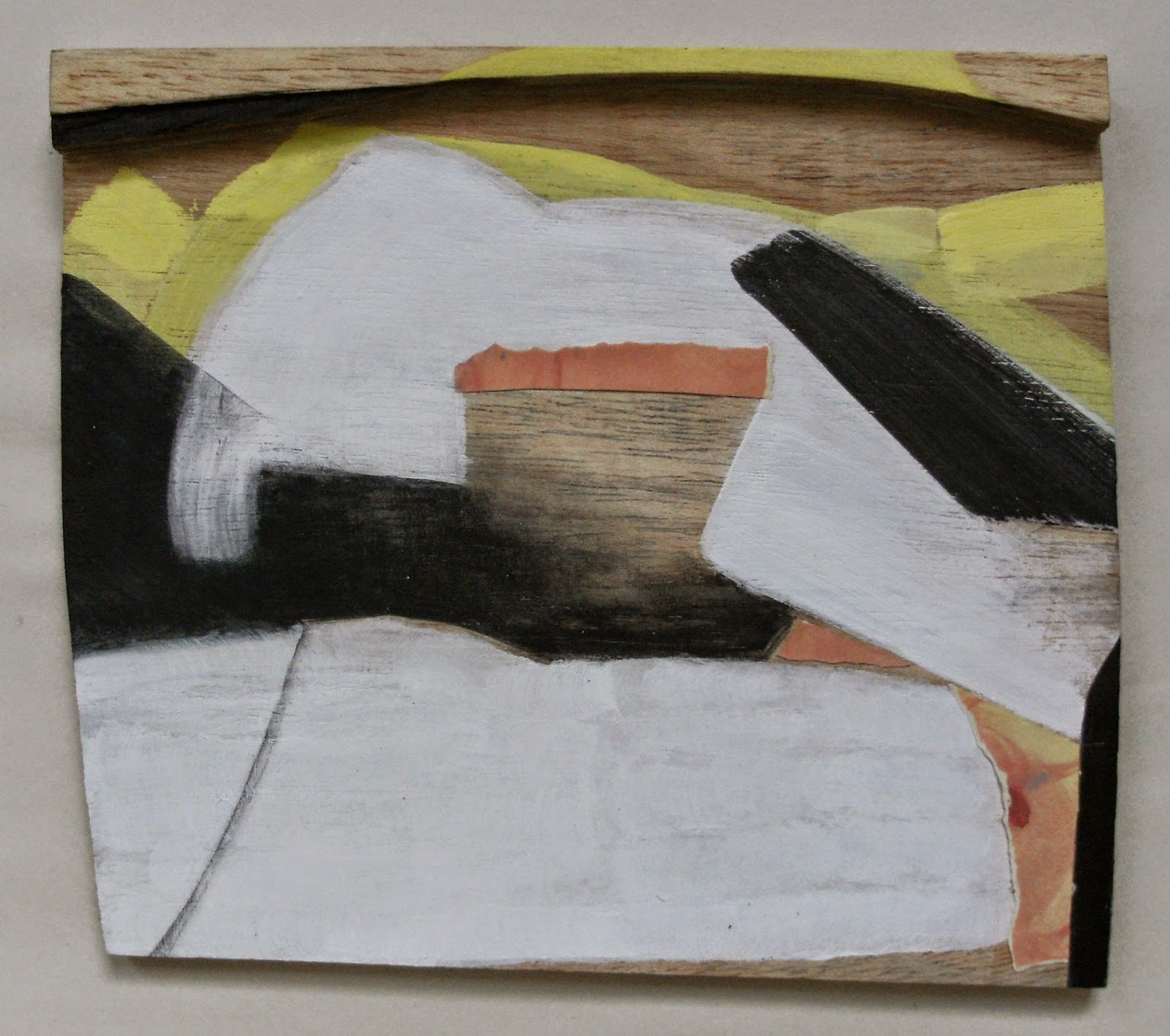 2015 28x32cm acrylic and paper on plywood with plywood lintel 1600x1418