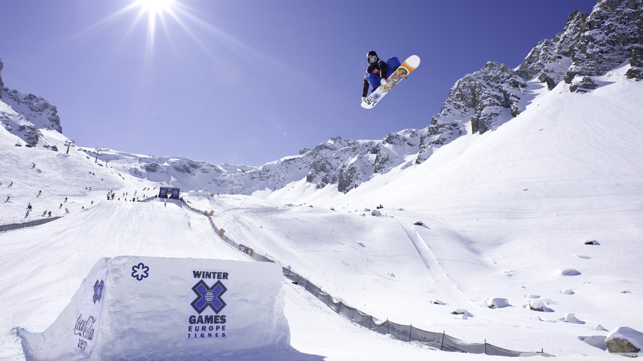 Winter Games Europe Tignes 4K HD Desktop Wallpaper for 4K Ultra 2048x1152