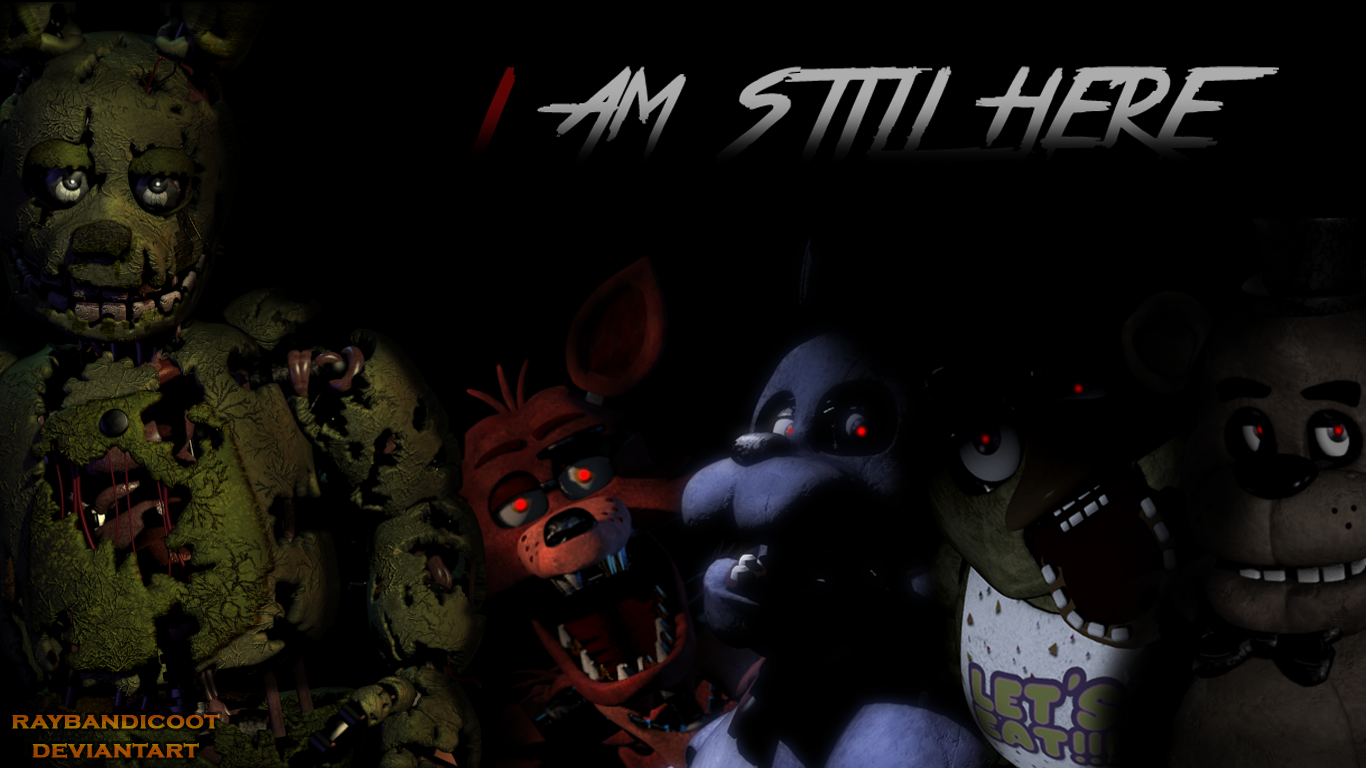 fnaf 3 wallpaper hd by raybandicoot watch customization wallpaper 1366x768
